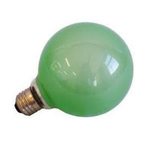 旭光電機工業 G95110V60W(G) バルーンカラー電球 グリーン