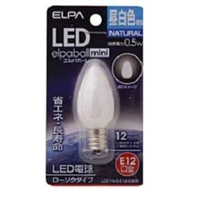 ELPA LDC1N-G-E12-G300 LED装飾電球 ローソク球形 E12 昼白色