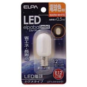 ELPA LDT1L-G-E12-G101 LED電球 「ナツメ形」(電球色・口金E12)