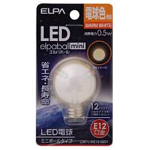 ELPA LDG1L-G-E12-G231 LED電球 「ミニボール形」(電球色・口金E12)