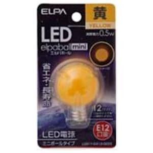 ELPA LDG1Y-G-E12-G233 LED装飾電球 ミニボール球形 E12 G30 イエロー