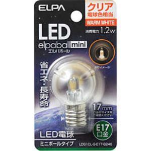 ELPA LDG1CL-G-E17-G246 LED装飾電球 ミニボール球形 E17 G30 クリア電球色