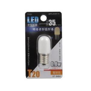 オーム電機 LED電球(LEDナツメ球E1735ルーメン電球色E17) LDT1L-H-E17