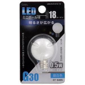 オーム電機 LED電球(LEDミニボール球E1218ルーメン昼白色E12) LDG1N-H-E12