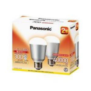 Panasonic LED電球EVERLEDS(一般電球形・全光束300lm・電球色相当・口金E26・2個入) LDA4LH2T