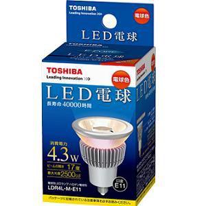 TOSHIBA E-CORE(イ-コア)LED電球(中角形・電球色・口金E11) LDR4L-M-E11