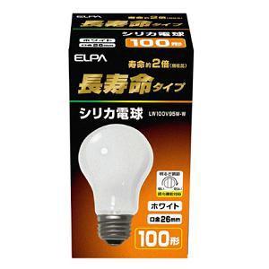 ELPA 長寿命 シリカ電球 LW100V95W-W