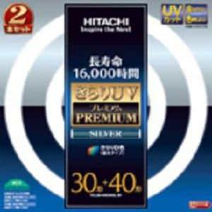 日立 FCL3040EDKSL2P きらりUVプレミアムシルバー 丸形蛍光管 30形+40形 きらりD色(昼光タイプ)  2本入り G10q