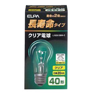 ELPA 長寿命クリア電球 L100V38W-C
