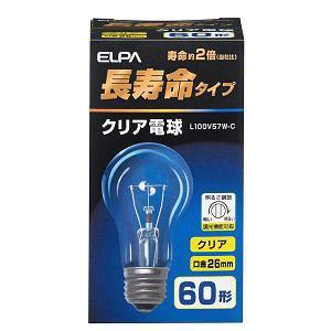 ELPA 長寿命クリア電球 L100V57W-C