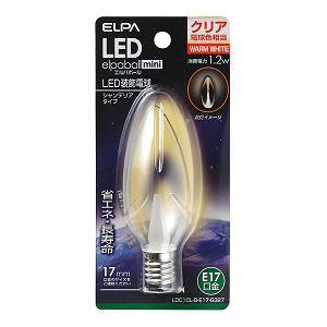 ELPA LEDシャンデリア球 LDC1CL-G-E17-G327