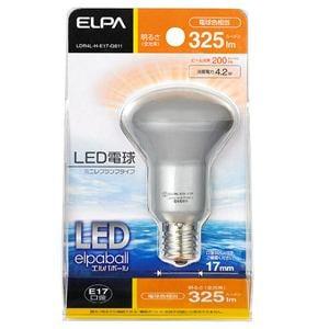 ELPA 30W形 E17口金 LEDミニレフ球 電球色 LDR4L-H-E17-G611