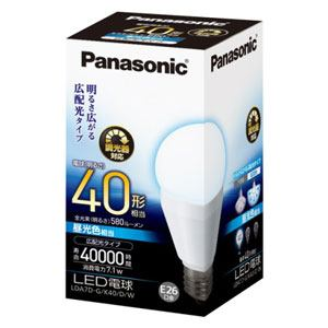 Panasonic LED電球 7.1W(昼光色相当) LDA7DGK40DW