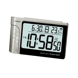 CASIO 電波時計(置き時計) シルバー デジタル(温度計)タイプ DQD-240J-8JF