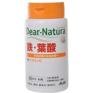 アサヒフードアンドヘルスケア(Asahi) アサヒ ディアナチュラ 鉄・葉酸 60粒 【栄養機能食品】