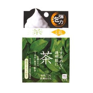 牛乳石鹸 自然ごこち 茶 洗顔石けん (しっとりタイプ) (80g)