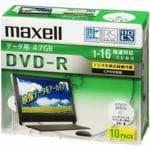 マクセル データ用DVD-R(16X) 10枚組 DRD47WPD.10S