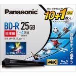 パナソニック LM-BR25LW11S 録画用 BD-R 1-4倍速 25GB 10枚+1枚 50GB