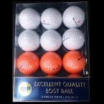 千代田ゴルフ エクセレントクオリティロストボール 【ゴルフボール】 1パック(12球) TD 12Pエクセレントロスト