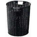 ゴミ箱 おしゃれ PP編み上げ ブラック 直径25.5×高さ31 スタイリッシュ