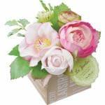 ポピー ミニカラフルフラワーミックスポット FBC-8111   ピンク 全長13cm・花径3~6.5cm・幅12cm