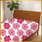 ベッドシーツ フラワー60144-2 ピンク セミダブル