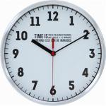 掛け時計・ウォールクロック タイムズ ホワイト 径25cm