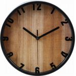 掛時計 ブランチ ブラック 22cm