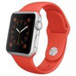 アップル(Apple) MLCF2J/A Apple Watch Sport 38mm シルバーアルミニウムケースとオレンジスポーツバンド