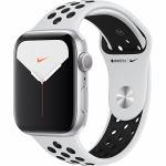 アップル(Apple) MX3V2J/A Apple Watch Nike Series 5(GPSモデル)- 44mmシルバーアルミニウムケースとピュアプラチナム/ブラックNikeスポーツバンド - S/M & M/L