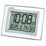 セイコー SQ686W デジタル時計 電波クロック ホワイト