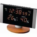 LED温湿度電波クロック C-8305OR オレンジ 1