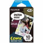 富士フイルム INSTAXMINICOMICWW1 チェキ インスタントカラーフィルム instax mini 絵柄入りフレーム 「コミック」 1パック(10枚入)