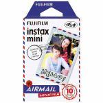 富士フイルム INSTAXMINIAIRMAILWW1 チェキ インスタントカラーフィルム instax mini 絵柄入りフレーム 「エアメール」 1パック(10枚入)
