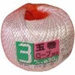 宮島化学工業 玉巻ロープM2 白 3mm80m