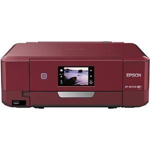 エプソン Colorio/カラリオ A4インクジェット複合機 (無線LAN/有線LAN/USB2.0) レッド EP-807AR