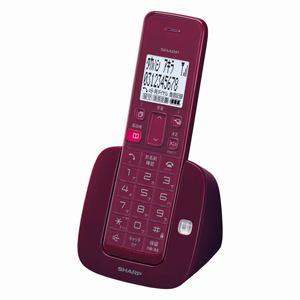シャープ コードレス電話機 ワインレッド D-S07CL-R