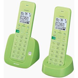 シャープ コードレス電話機 受話器2台 リーフグリーン JD-S07CW-G