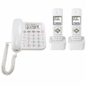 パイオニア デジタルコードレス留守番電話機 子機 2個付 ホワイト TF-SA15W-W