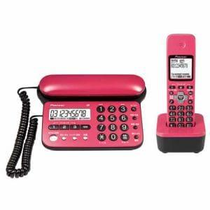 パイオニア コードレス留守番電話機(子機1台)チェリーピンク TF-SD15S-CP