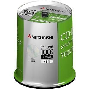 三菱ケミカルメディア SR80FC100D5 CD-R(Data) 1回記録用 80分 48倍速対応 100枚スピンドルケース100P