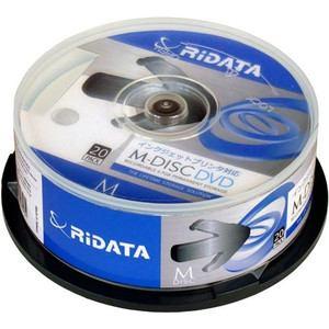 RiDATA M-DVD4.7GB.PW20SP M-DISC DVD 4.7GB 4倍速 20枚スピンドルケース
