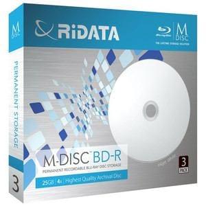 RiDATA M-BDR25GB.PW3P M-DISC BD-R 4倍速 25GB 3枚パック