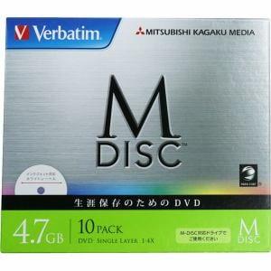 三菱化学メディア 1回記録用DVD(データ用) 4.7GB 1-4倍速 5mmケース10P DHR47YMDP10V1