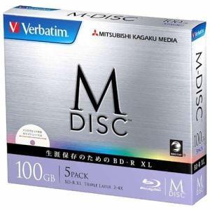 三菱ケミカルメディア DBR100YMDP5V1 2-4倍速対応 データ用Blu-ray BD-R XL (片面3層・100GB・5枚)