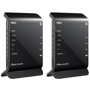 NEC 11ac対応 無線LANルータ イーサネットコンバータセット PA-WG1200HP/E