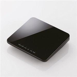 エレコム 11ac 433Mbps ギガ対応ホテルルーター ブラック WRH-733GBK