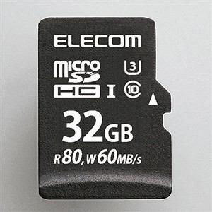 エレコム UHS-Ⅰ/U3対応microSDHCメモリカード 32GB MF-MS032GU13R