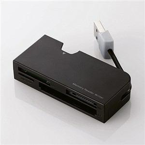エレコム ケーブル収納タイプメモリリーダライタ ブラック MR-K013BK