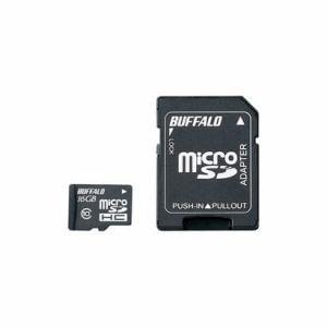 バッファロー microSDHCカード Class10 SD変換アダプター付 16GB RMSD-16GC10SA